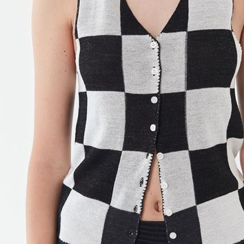 UO Talia Checkered Tank Top   Urban Outfitters