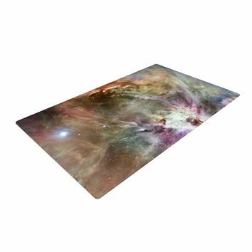 "Suzanne Carter ""Orion Nebula"" Celestial Gray Woven Area Rug"