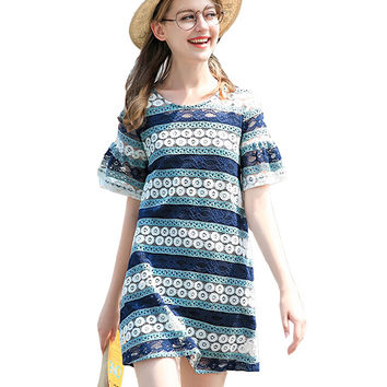 Multicolor Two Piece Lace Top with Camisole