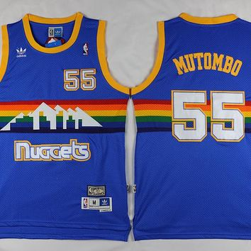 Denver Nuggets #55 Dikembe Mutombo Retro Swingman Jersey