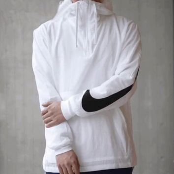 Trendsetter  Nike  Couple  Fashion Cotton  Long Sleeve Top Sweater Hoodie