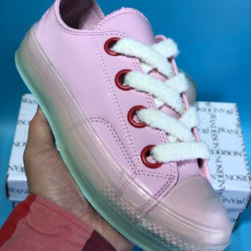 DCCK Converse X JW Anderson Candy Crystal Skate Shoes Pink Green