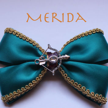 Merida Brave Hair Bow or Bow Tie by ShowtimeBowsbyLouise on Etsy