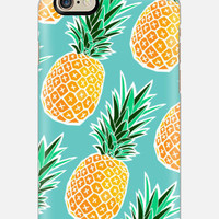 iPhone 6 Case , Pineapple iPhone 6 case , Teal iPhone case, iPhone 5c case, multi color cell case, cellcasebythatsnancy