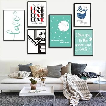 I Love You To the Moon And Back Canvas Print - Wall Art Decor