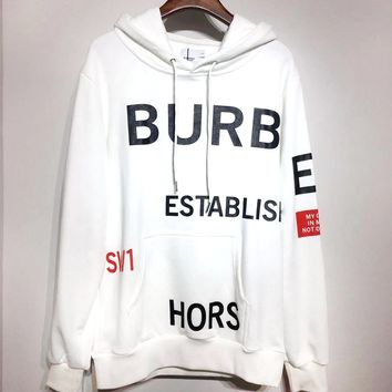 Burberry 2019 new high quality printed cotton loose hoodie