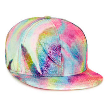 OIL SLICK PRINT SNAPBACK CAP - Hats   - Shoes and Accessories