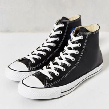 converse chuck taylor all star leather high top men s sneaker black