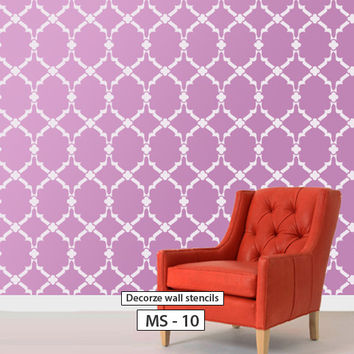 Moroccan large wall stencil design, MS-10