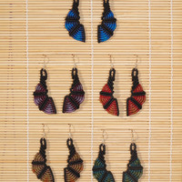 Macrame Earrings (ethnic, macramè, customized)