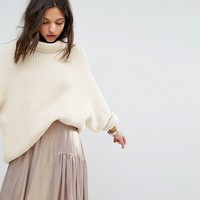 Free People Swim Too Deep Roll Neck Sweater at asos.com