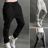 Boy Men Slacks Trousers Sweatpants Jogger Dance Sportwear Baggy Harem Pants
