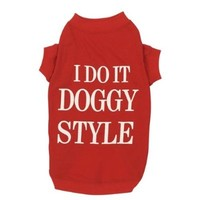 Zack & Zoey Doggy Style Dog T-Shirt, X-Small, Red