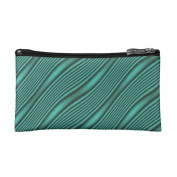 Teal Waves Cosmetic Bag