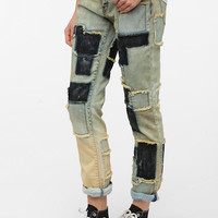 Urban Outfitters - BDG Slim Straight Jean - Patchwork