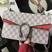GUCCI 2018 tide brand fashion classic printing logo shoulder chain bag F-AGG-CZDL #6