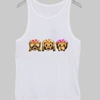 three monkey Tank Top