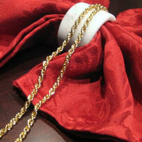 Vintage 18K Gold-Filled Twisted Triple Link Necklace, Gold Jewelry Necklace, Simple Elegant Jewelry, Rope Chain Necklace w/ Jewelry Gift Box