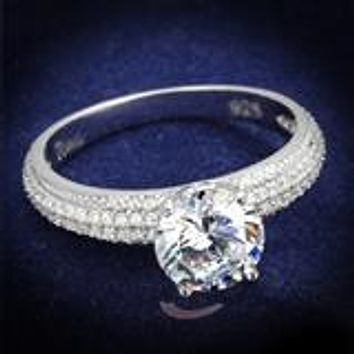 A Perfect 1CT Round Cut Russian Lab Diamond Ring