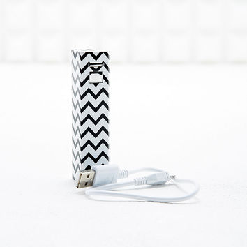 Audiology Portable Phone Charger in Black and White - Urban Outfitters
