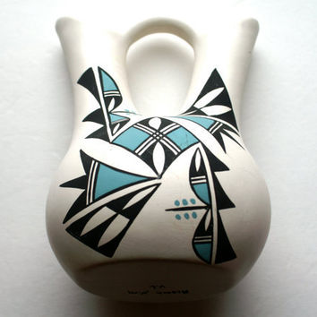 Acoma Pottery Native American Wedding Vase by RinnovatoVintage