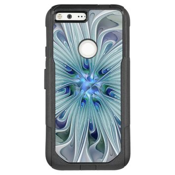 Floral Beauty Abstract Modern Blue Pastel Flower OtterBox Commuter Google Pixel XL Case