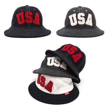 Unisex Mens Womens Premier USA Bucket Bowler Boonie Camping Cap Outdoor Hats