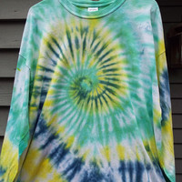 2XL Long Sleeve Tie Dye T Shirt, Big and Tall Long Sleeve Tiedye Shirt, Mens Tie Dye TShirt, 2XL Tiedye, Hippie Clothing, Retro Clothes