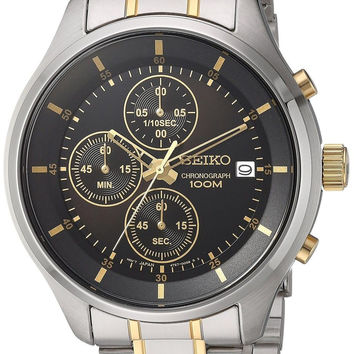 Seiko Men's Amazon Exclusive Quartz Stainless Steel Casual Watch Color:Two To...