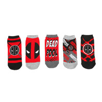 Marvel Deadpool Logos No-Show Socks 5 Pair