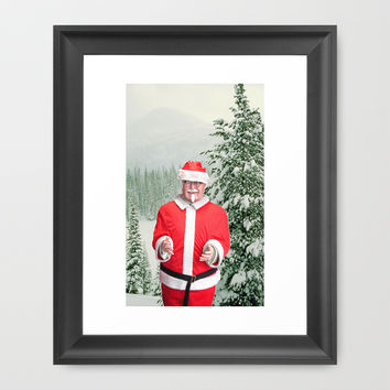 Merry Christmas, Colonel Sanders Framed Art Print by Casey J. Newman