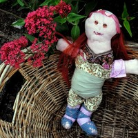 Becky the Red Haired Rag Doll, 14 inches 36 cm tall