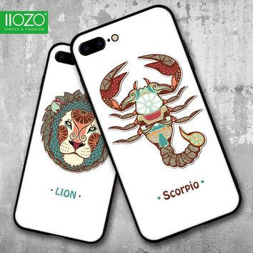 2017 Fashion Case For iphone 6 Case Constellation Series Lion Scorpio Aquarius Untra Thin Hard Back Cover for iphone 7 6 6s plus