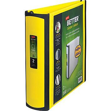 Staples Better 2-Inch D 3-Ring View Binder, Yellow (20248) | Staples