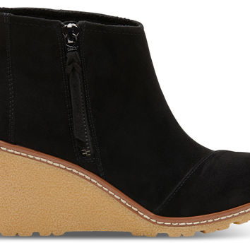 BLACK MICROFIBER WOMEN'S AVERY BOOTIES