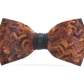 Brackish, Cooper Bow Tie, Pheasant Feathers