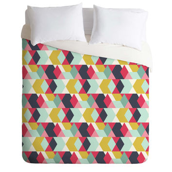 Heather Dutton Tribeca Nightlife Duvet Cover