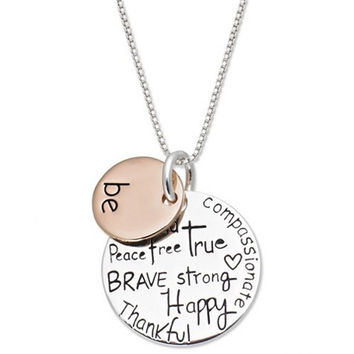 Be Inspirational Engraved Necklace