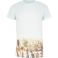 River Island MensWhite New York skyline fade print t-shirt