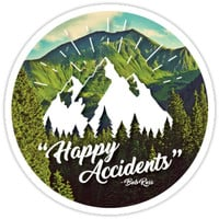 'Happy Accidents' Sticker by meghanmarie