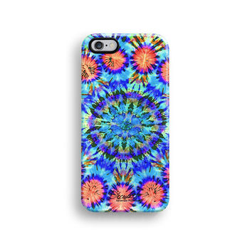 Tie dyed blue floral iPhone 6 case, iPhone 6 plus case S676