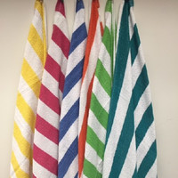 "cabana color striped beach towel 30"" x 60"" Case of 36"