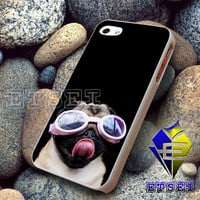 Pug wearing Pink Goggles Dog Funny For iPhone case Samsung Galaxy case Ipad case Ipod case
