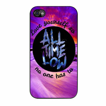 All Time Low Love Yourself Design iPhone 4 Case