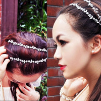 Women Fashion Crystal Rhinestone Head Chain Jewelry Headband Head Hair band 7_S = 1917031876