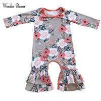 Baby Girl Romper Newborn Baby Winter Long Sleeve Ruffle Romper Infant Onesuit Cotton Baby Jumpsuit Baby Clothes