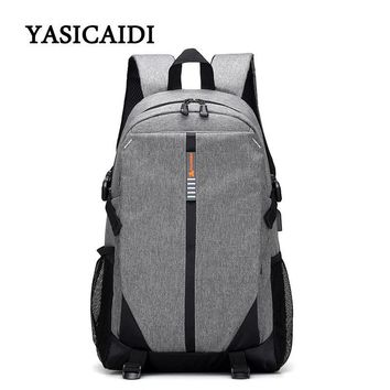Anti theft USB Charging 15 Inches Laptop Backpack For Men Women Backpacks Fashion Canvas School Bags Mochila Unisex Schoolbag