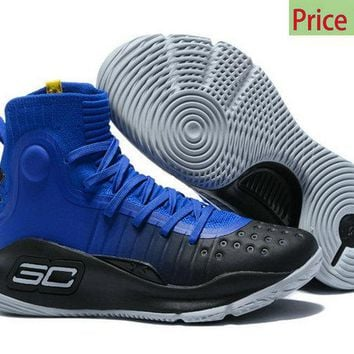 white casual shoes Mens Under Armour Curry 4 Mid Basketball Shoes Away Team Royal Black Academy Team Royal Online sneaker