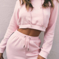 Dress-aholic Sweatsuit | Pink