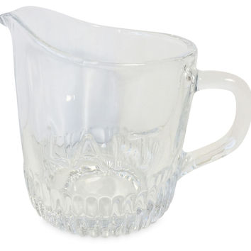 "Creamer Small Glass Pitchers, ""Lait"", Set of 6, Pitchers & Carafes"